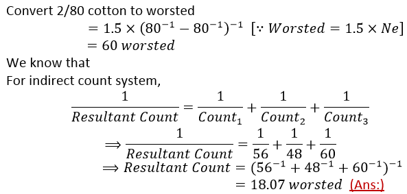 yarn numbering system There are various counts of filament yarns with different number of fibers filament  yarns  knitted with 400 needles on four knitting systems was used, table 2.