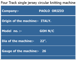 Four Track single jersey circular knitting machine specification | Tubular Fabric | Cut edge fabric | Selvedge Fabric | Feeder | Cylinder and Dial needle | Needle bed or needle carrier | Knitted Stitch | Parts of a knitting loop | Course and wale in machine | Course and wales | Types of Knitting | Fabric forming process | Knitting terms and definition | textile study center | textilestudycenter.com
