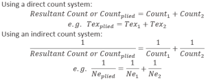 Relation Between Yarn Count and Diameter   count system using indirect system   restultant count   textile study center   textilestudycenterc.om