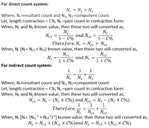 Relation Between Yarn Count and Diameter  direct count system   textile study center   textilestudycenterc.om