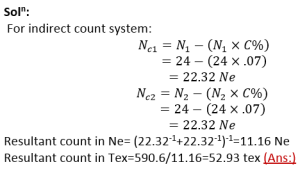 Relation Between Yarn Count and Diameter |direct count system | textile study center | textilestudycenterc.om