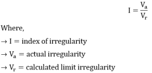 Index of irregularity eqn1