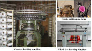 Knitting Machine | Four Track single jersey circular knitting machine specification | Tubular Fabric | Cut edge fabric | Selvedge Fabric | Feeder | Cylinder and Dial needle | Needle bed or needle carrier | Knitted Stitch | Parts of a knitting loop | Course and wale in machine | Course and wales | Types of Knitting | Fabric forming process | Knitting terms and definition | textile study center | textilestudycenter.com