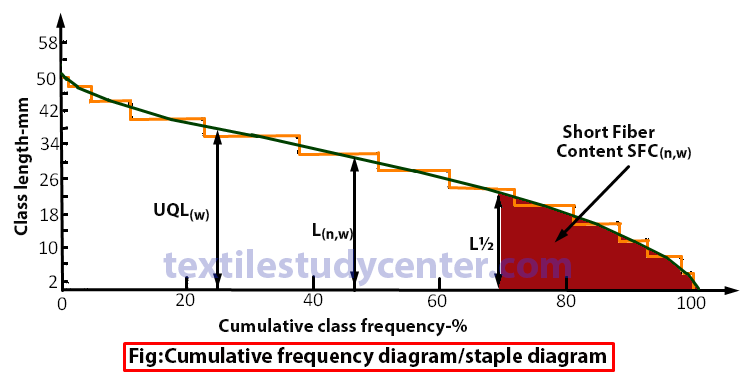camulative frequency diagram-staple diagram