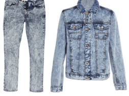 Acid washed denim garments