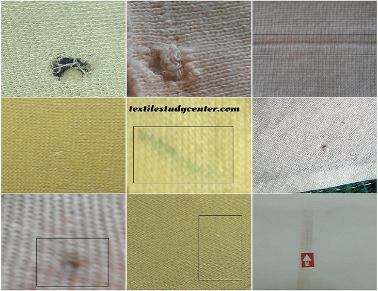 Knitting Faults in fabric