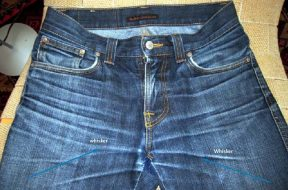 whiskering -Denim washing