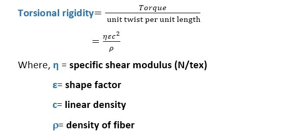 Torsional Properties of Textile Materials | Torsional Rigidity | Proof of Torsional Rigidity | Specific Torsional Rigidity | Shear Modulus | Breaking Twist | Breaking Twist Angle (BTA) | Breaking Twist Angle of Different Fiber | math of of Torsional Rigidity | Textile Study Center | textilestudycenter.com