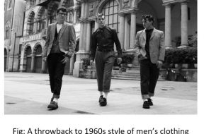 A throwback to 1960s style of men's clothing