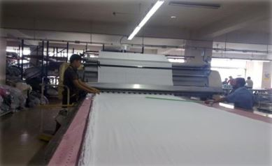 Cutting Section in Apparel Industry | Cutting Room Terminology | The cutting process includes number of sub-processes | List of Machines Used in Cutting Room in Apparel Industry | Automatic spreading machine | Automatic cutting machine | Factors affecting the cutting processes | Cutting Room Terminology | Face one way spreading | Band knife | Bias | Baker's trolley | Block cutting or blocking out | Bowing | Clicker press | Cross | Die cutting | End loss | Face to face spreading | Face to face one way spreading | Layout (pattern layout) | Marker | Notch | On the fold | Shade Numbering | Operation flow chart of Cutting department | Spreading M/C Specification (Lectra) | Cutting machine Specification (Manual) | Cutting machine specification (Automatic) | Vector VT 7000 Fashion m/c specification | Organogram of a typical cutting section | Textile Study Center | textilestudycenter.com